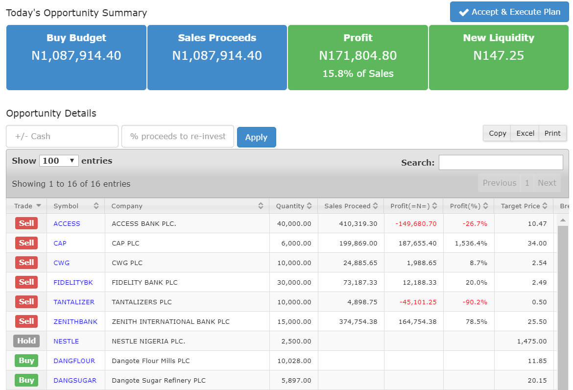 image of the investment planner application on the portal